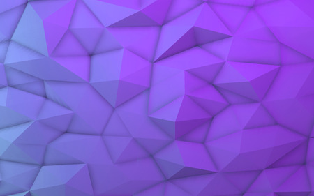 3D illustration - Purple low poly texture Stock Photo