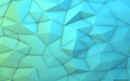3D illustration - Blue low poly texture
