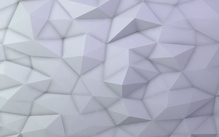 3D illustration - White low poly texture Stock Photo