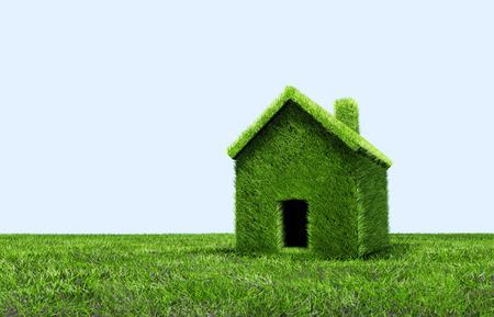 Green grass house.
