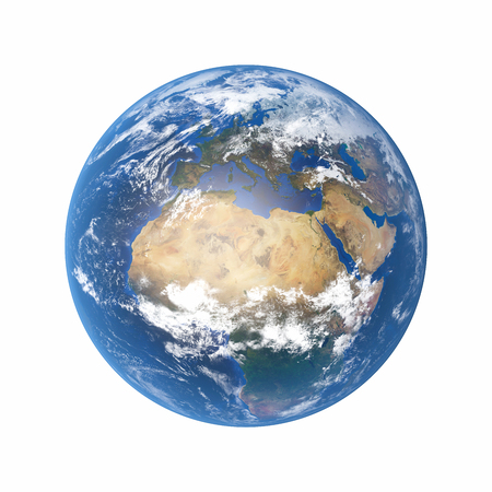 3D Illustration - Planet earth isolated on white background Stock Photo