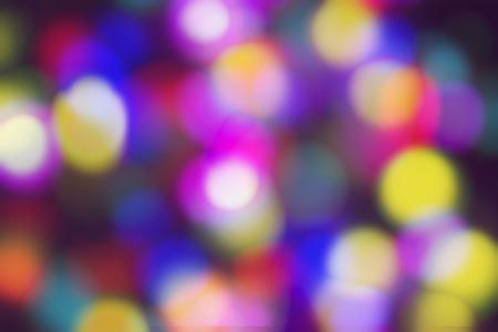 Defocused colored light particles