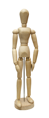 Wooden jointed doll Stock Photo