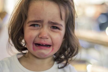 Little girl crying Stock Photo
