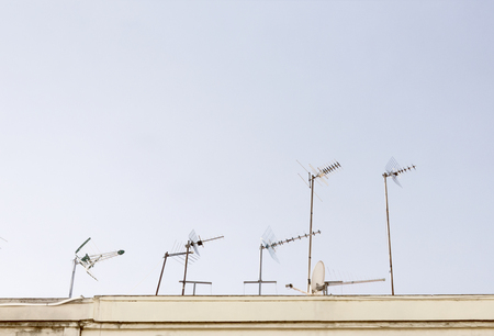 UHF Antennas in the roof