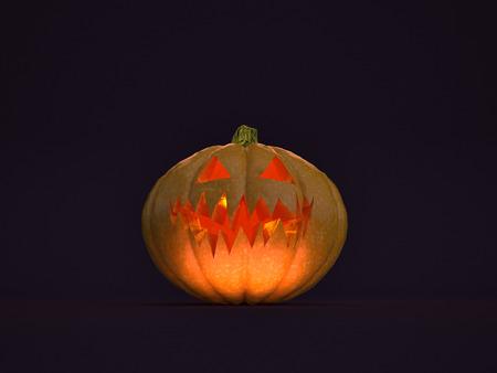 3D illustration - Halloween pumpkin
