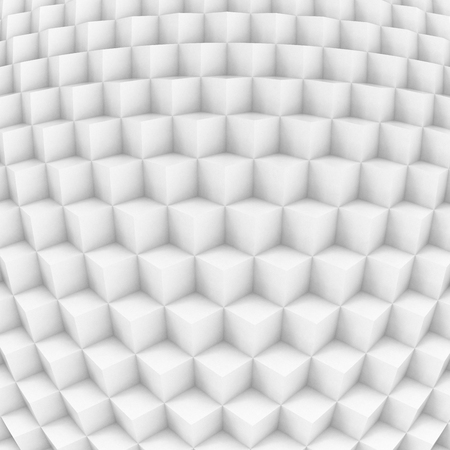 3d illustration - Pattern of white cubes stacked