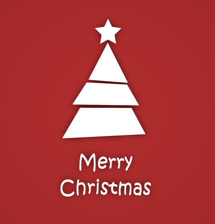 Abstract Christmas tree with text Merry Christmas