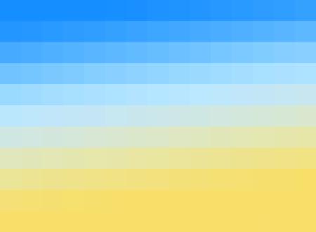 Abstract pixel beach
