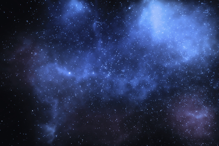3D illustration - Stars and nebulae in the universe Stock Photo