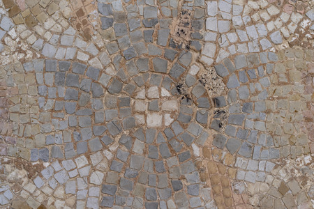 Ancient geometric pavement of a Roman urban road in Cordoba - Spain