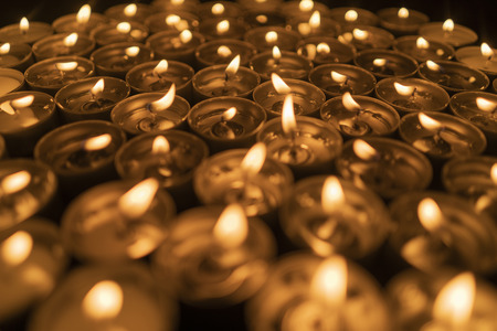 Abstract candles background Stock Photo