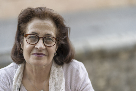 Portrait of a senior woman in glasses Stockfoto