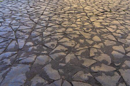 Old street floor pavement background Archivio Fotografico