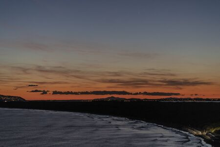 Feniglia beach in Orbetello at dusk - Italy