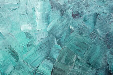 Turquoise paint texture on a canvas Stock Photo