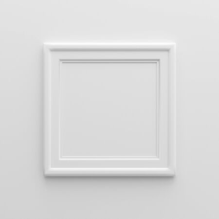 3D illustration - Empty white picture frame Stock Photo