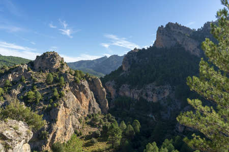 Mountains and forest landscape in natural park of Cazorla, Segura y Las Villas in Jaen province - Spain