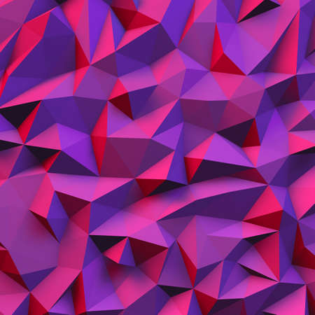 3D Illustration - Purple low poly texture Archivio Fotografico
