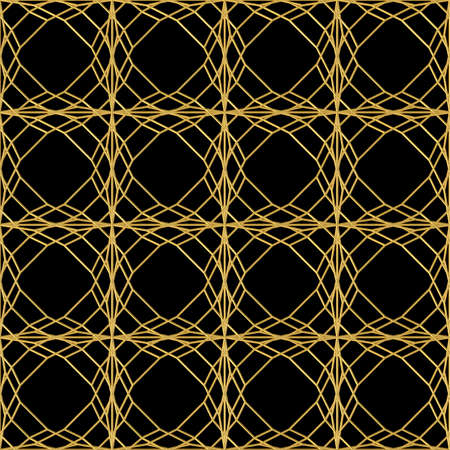 Seamless pattern of an art deco golden fence Archivio Fotografico