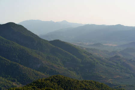 Mountains landscape in the natural park of