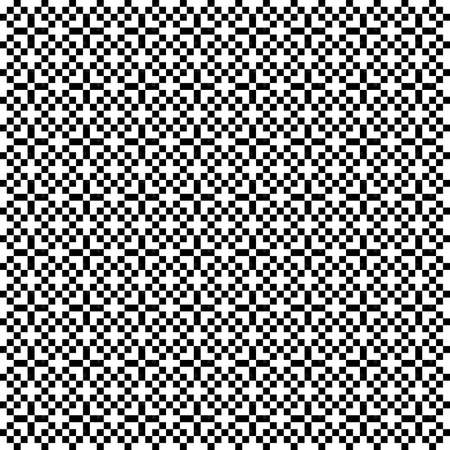 Illustration of a black and white pixel mosaic pattern