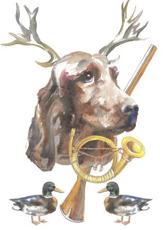 The Irish Setter, hunter dogs card designs, editable