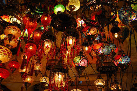 bazar: lamp, Gran Bazar Stock Photo
