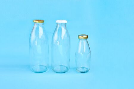 Reusable glass water bottle. Sustainable lifestyle. Eco friendly concept.