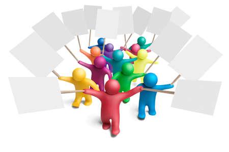 show bill: Demostraci�n de figuras humanas de plastilina multicolores