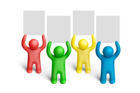 figuras humanas: Demostraci�n de figuras humanas de plastilina multicolores