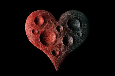 Heart as a lifeless planet photo