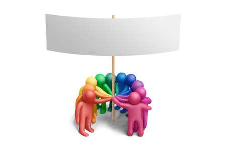 figuras humanas: Multicolor demostraci�n de plastilina figuras humanas Foto de archivo