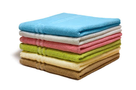 laundry pile: Stack of the multicolored towels