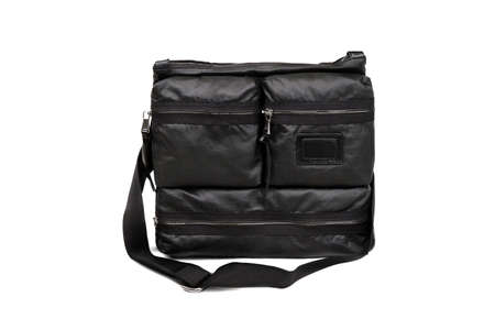 Dark male bag on a white background  photo