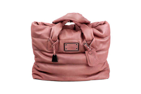 woman s bag: Rose female bag on a white background