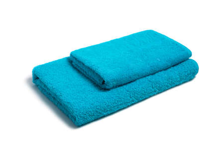 Stack of towels on a white background Stock Photo - 14851362