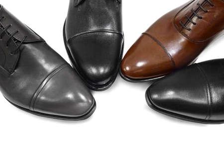 shoe model: Male footwear on white background.