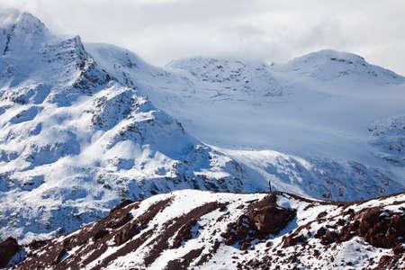 montañas nevadas: Un fragmento de la mayor gama de monta?a del C?ucaso