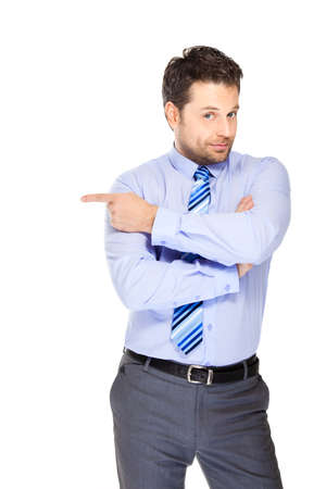 directive: Office clerk on white background