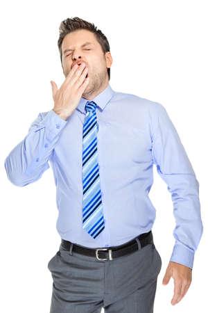 lazybones: Office clerk on white background
