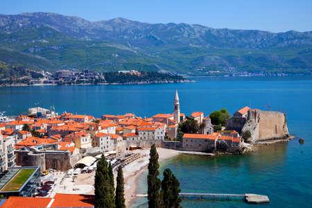 Fragment of Old Budva town Montenegro  Stock Photo