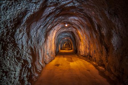 fragment of a underground tunnel