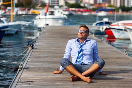 Sea vakantie van kantoorklerk