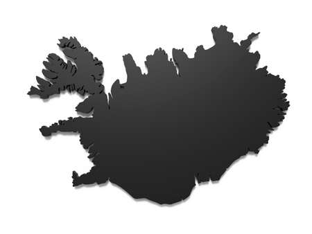 3D illustration of Island map