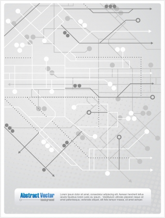 Abstract background with lines, circles and arrows similar to a subway map, with space for custom text