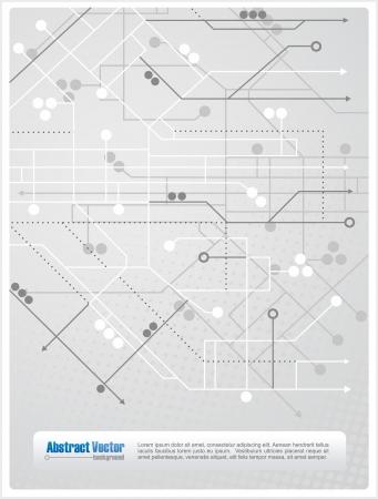 R�sum� de fond avec des lignes, des cercles et des fl�ches similaires � un plan de m�tro, avec un espace pour un texte personnalis�