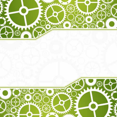 background with gears. Easy editing. Vectores