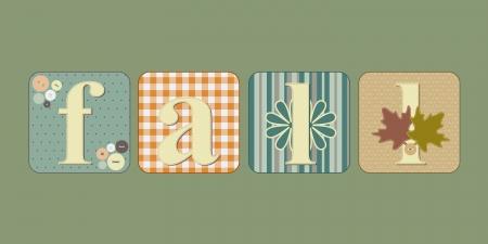 illustration de scrapbooking et la couture lettrage inspir� du mot