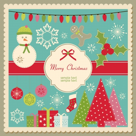 Vector Christmas card with space for custom text Vectores